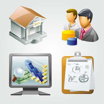 business vector items illustration - vector gratuit #133281