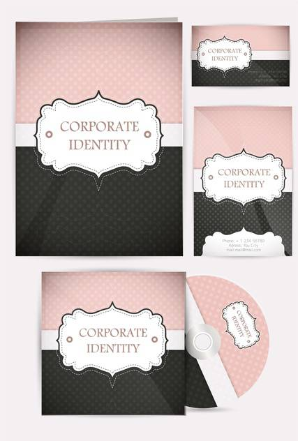 selected corporate templates set - бесплатный vector #133311