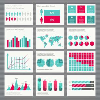 business retro infographics set - vector gratuit #133351