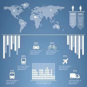 business transportation infographics set - Free vector #133381