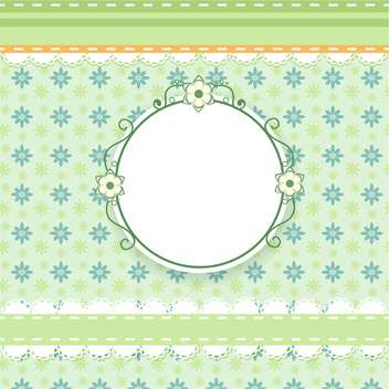 vector floral invitation background - vector #133451 gratis