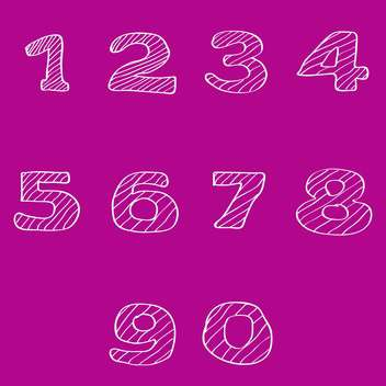 vector numbers set background - vector gratuit #133471