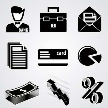 vector set of business icons - vector gratuit #133481
