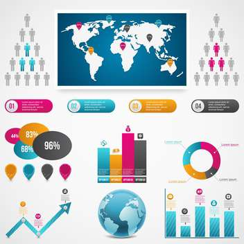 set of business infographic elements - vector gratuit #133531