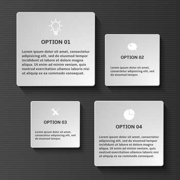 vector set of business infographic elements - Free vector #133571