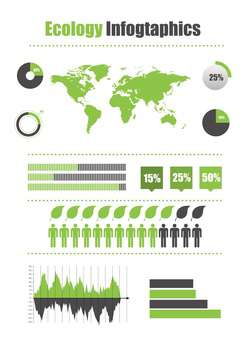 ecology business infographics set - vector gratuit #133641