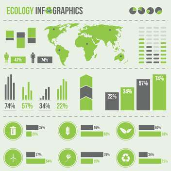 set elements of business infographics - vector gratuit #133671