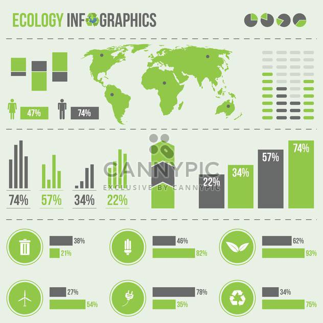 set elements of business infographics - Free vector #133671