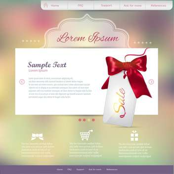 vector template of abstract website design - vector #133701 gratis