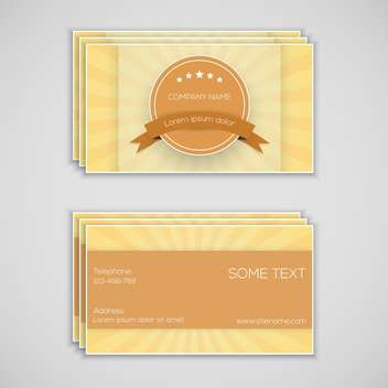 business cards vector background - vector #133771 gratis