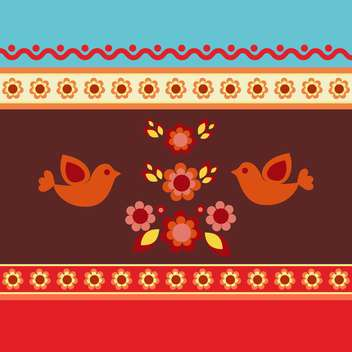 ethnic pattern floral background - vector gratuit #133791