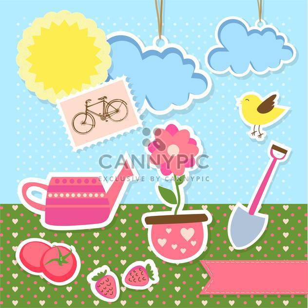 vector garden items background - Kostenloses vector #133821