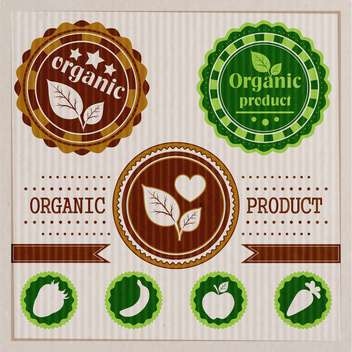 vintage bio and eco labels of natural products - vector gratuit #133861