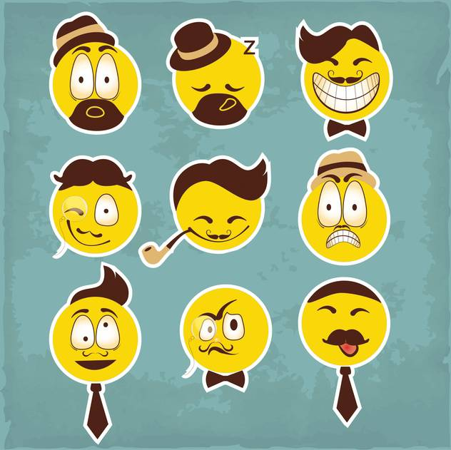 funny smiley characters illustration - vector #133871 gratis