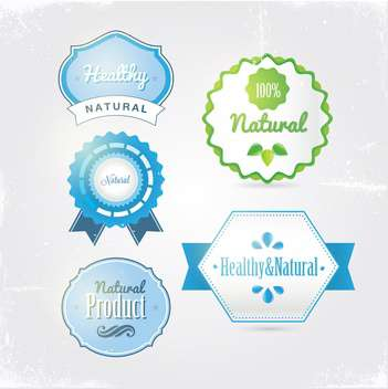 vintage bio and eco products labels - vector gratuit #133921