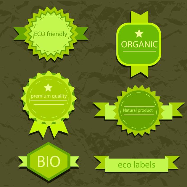 vintage bio and eco products labels - Free vector #133961