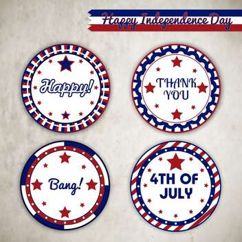 vector independence day badges - vector gratuit #134011