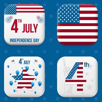 vector independence day badges - бесплатный vector #134031