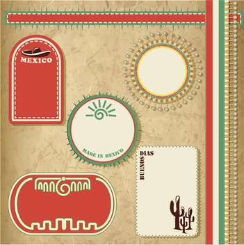 travel to mexico vintage elements set - vector gratuit #134081