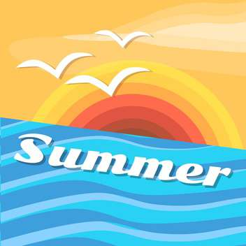 summer holiday vector background - vector gratuit #134091