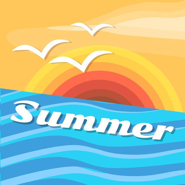 summer holiday vector background - Free vector #134091