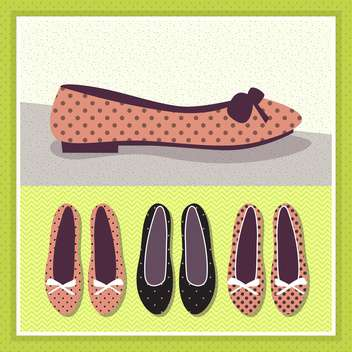 vintage female shoes illustration - vector gratuit #134101