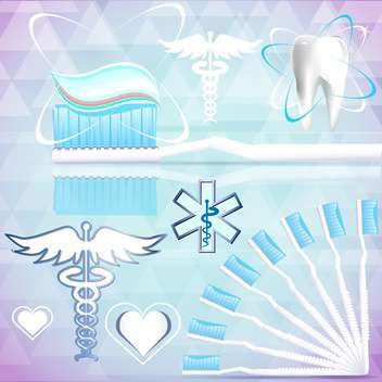 medical signs on abstract background - Free vector #134151