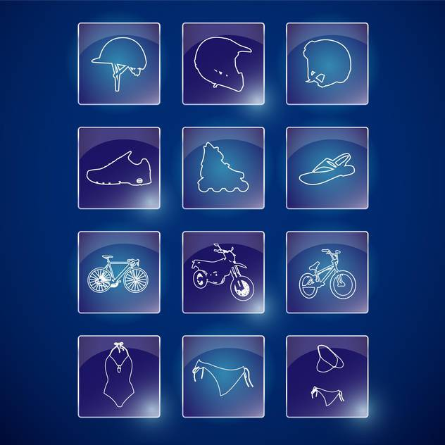 sport lifestyle icons set - Free vector #134161