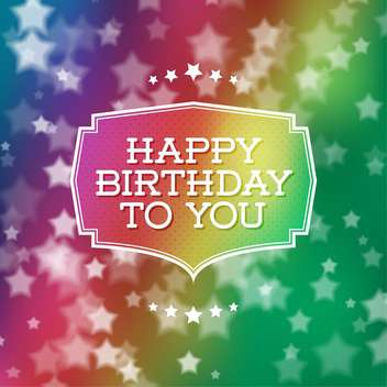 happy birthday poster background - vector gratuit #134171