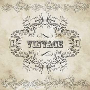 vintage design elements set - vector #134201 gratis
