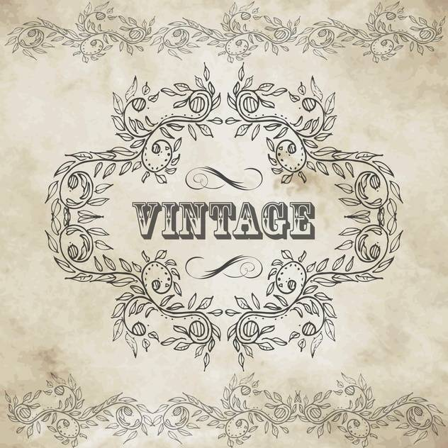 vintage design elements set - vector gratuit #134201