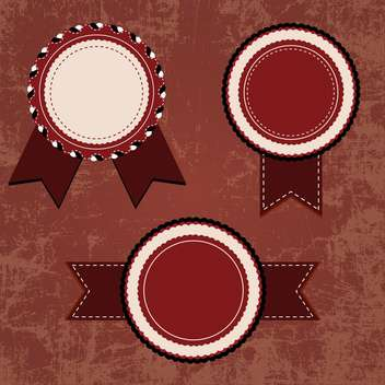 vintage design emblems set - Free vector #134271