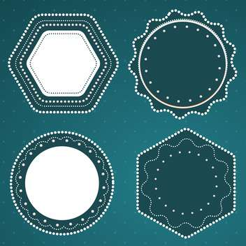 retro styled vector frames - бесплатный vector #134281