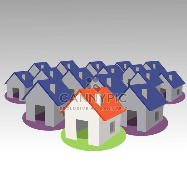 3d model house symbol set - Free vector #134331