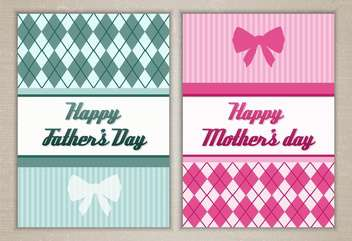 happy mother's and father's day cards - vector #134351 gratis