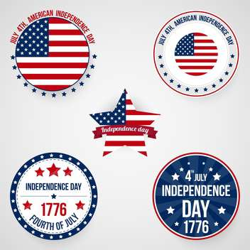usa independence day labels set - бесплатный vector #134371
