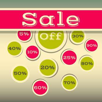 high quality sale labels and signs - vector gratuit #134421