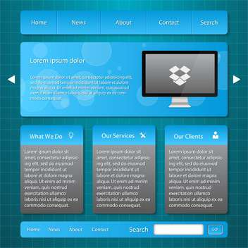 web site template background - vector #134441 gratis