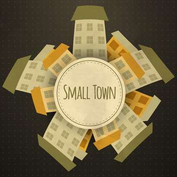 cartoon small town background - vector gratuit #134471