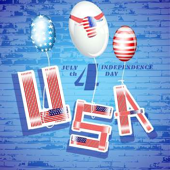 usa independence day background - vector #134481 gratis