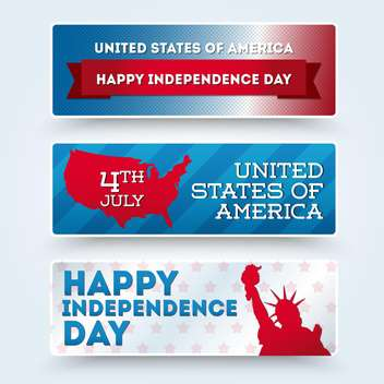 usa independence day symbols - vector gratuit #134511