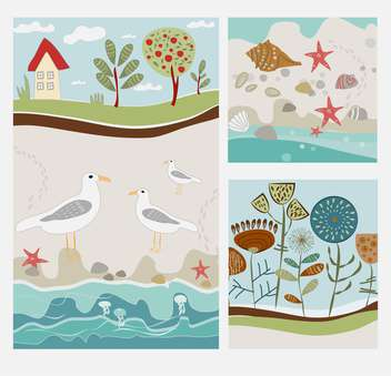 summer vacation vintage background - vector gratuit #134541