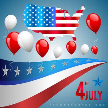 4th of july poster card - vector gratuit #134581