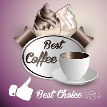 background of coffee and ice cream - vector gratuit #134601