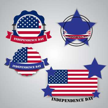american independence day poster - vector gratuit #134631