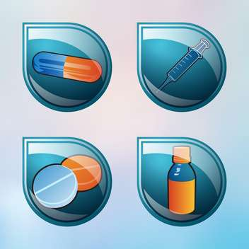 vector medical buttons set - vector gratuit #134691