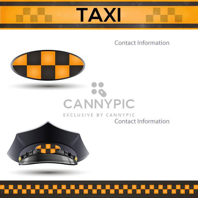 racing background with taxi cab template - Free vector #134761