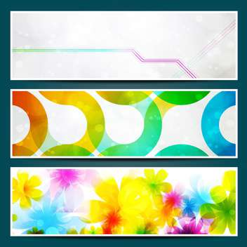 vector set of web abstract banners - Free vector #134771