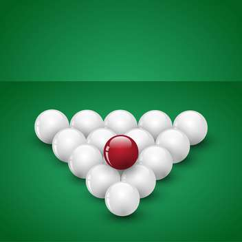 billiard game balls vector illustration - бесплатный vector #134781