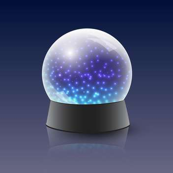 vector chrystal magic ball - vector #134801 gratis